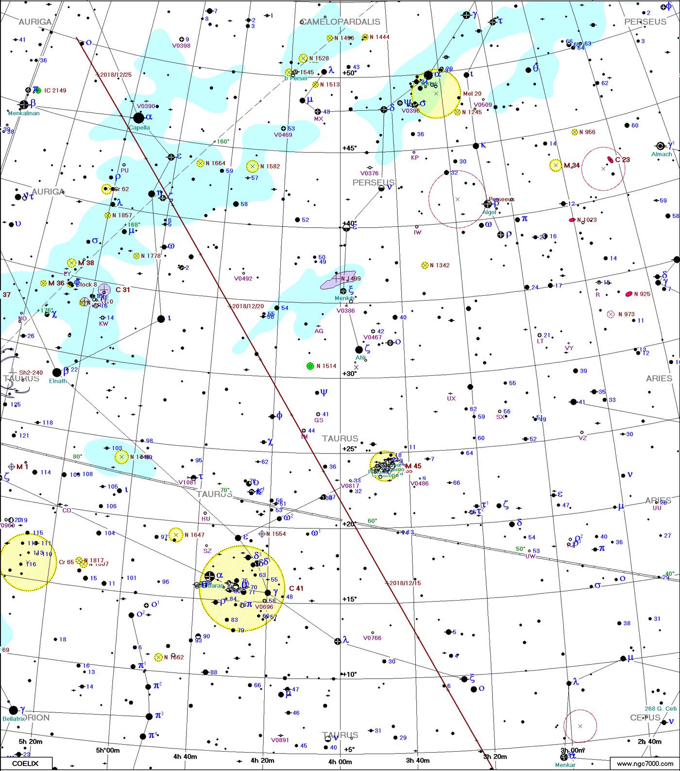 Comète 46P/Wirtanen Carte2