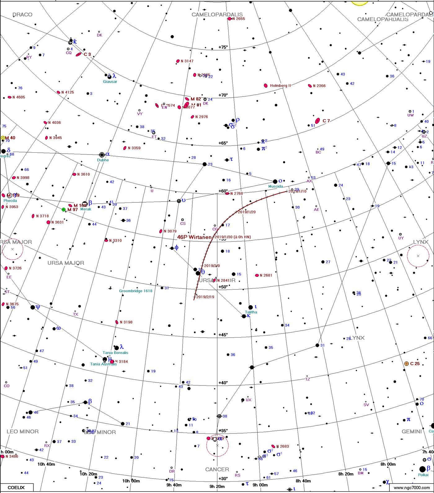 Comète 46P/Wirtanen Carte4