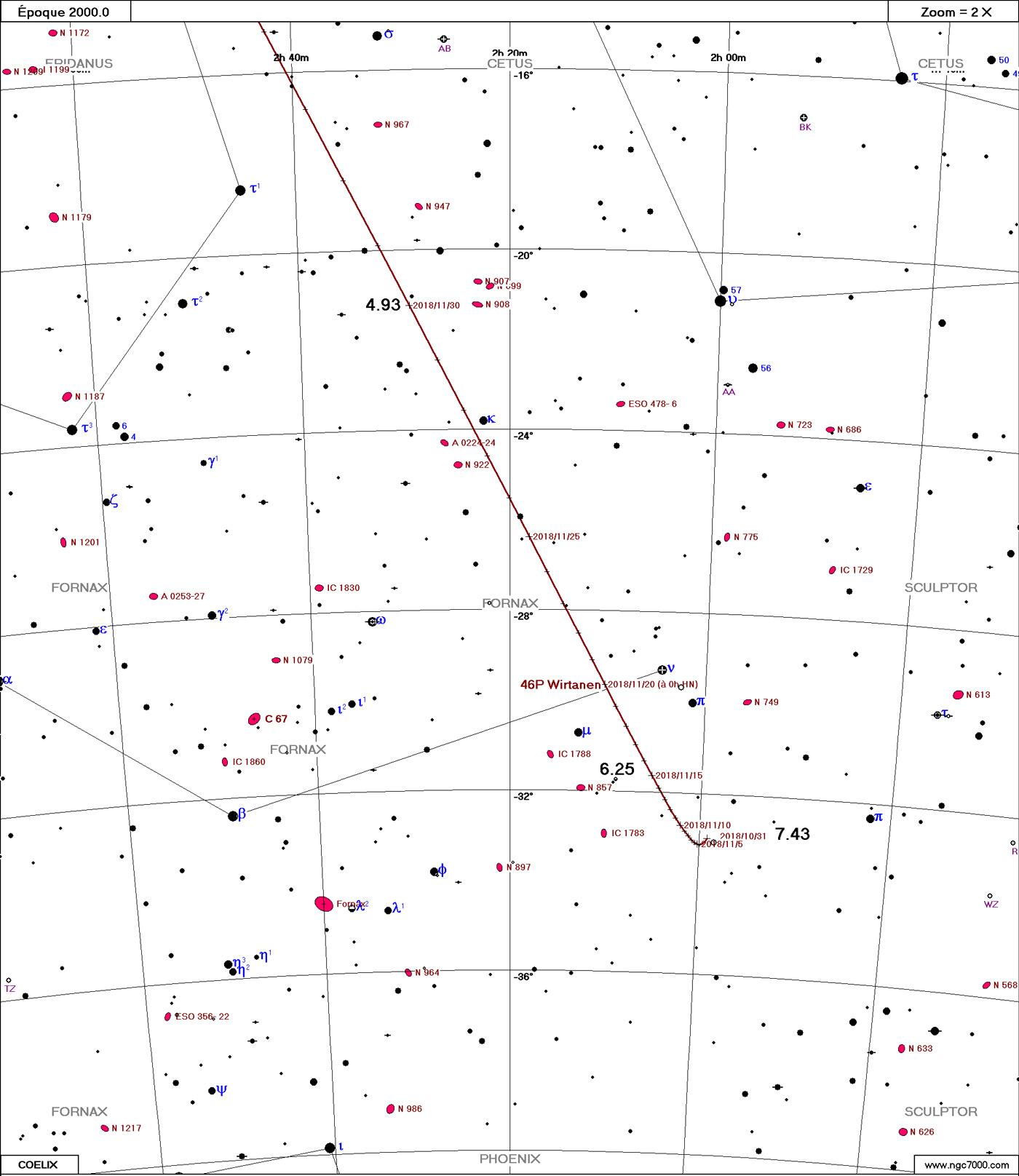 Comète 46P/Wirtanen Wirtanen11