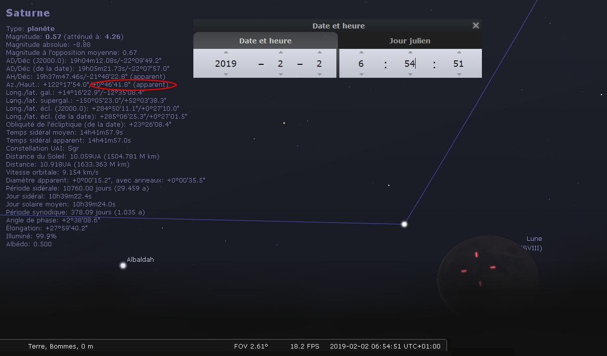 Observation samedi 2 février 2019 Stellarium